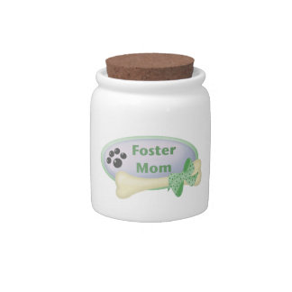 Foster Mom blue circle Candy Jar