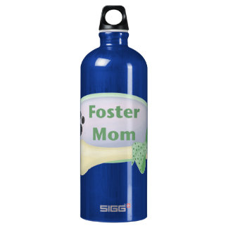 Foster Mom (blue circle) Water Bottle