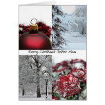 Foster Mom Christmas Red Winter collage Greeting Cards