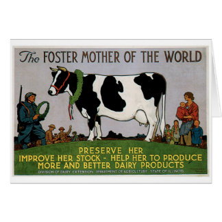 Foster Mother Of The World Vintage Food Ad Art Stationery Note Card
