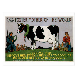 Foster Mother Of The World Vintage Food Ad Art Postcard