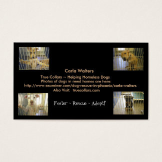 Foster ~ Rescue ~ Adopt Business Cards