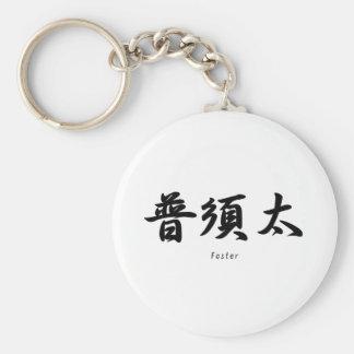 Foster tradujo a símbolos japoneses del kanji llaveros personalizados