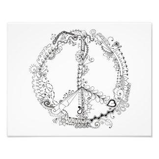 foto 14 x 11 del signo de la paz artsy ilustrado cojinete