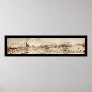 Foto 1870 de la costa del manganeso de Duluth Poster