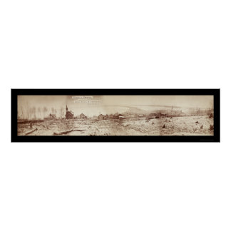 Foto 1870 de la costa del manganeso de Duluth Póster