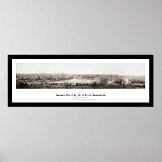 Foto 1874 del panorama de Lowell mA Póster