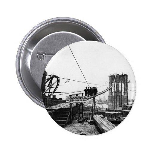 Foto 1878 del vintage de Nueva York del puente de  Pins
