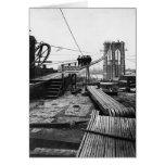 Foto 1878 del vintage de Nueva York del puente de  Tarjetón