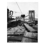 Foto 1878 del vintage de Nueva York del puente de  Postales