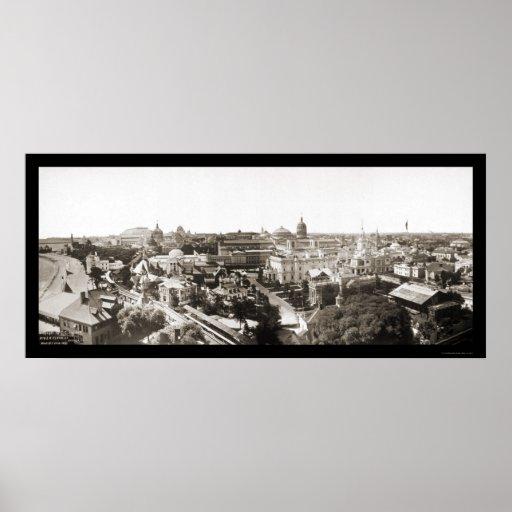 Foto 1893 de la feria de mundos de Chicago Póster