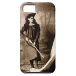 Foto 1898 de Srta. Annie Oakley Holding un rifle iPhone 5 Case-Mate Coberturas
