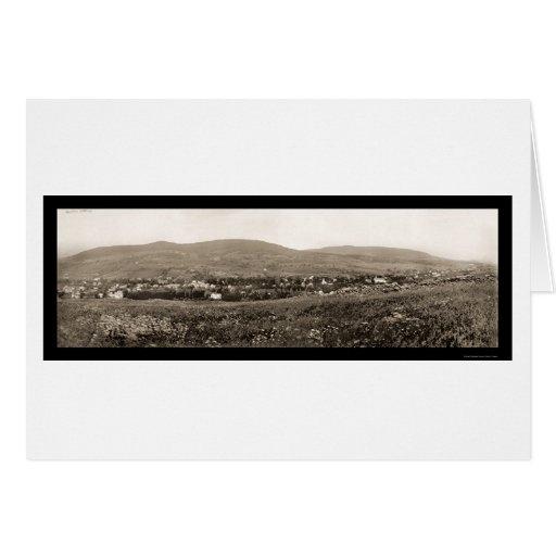 Foto 1898 del cazador NY de Catskill Mts Felicitaciones