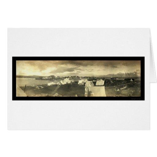 Foto 1899 del panorama de la ciudad AK de Nome Tarjeta De Felicitación