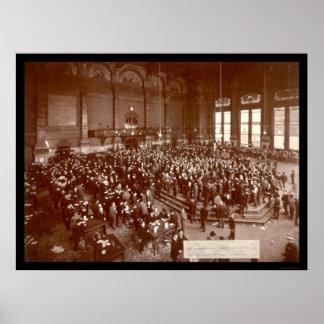 Foto 1900 de la junta de comercio de Chicago Póster