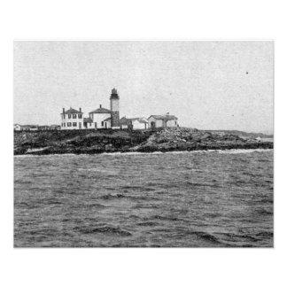 Foto 1900 del faro de Beavertail Fotografía