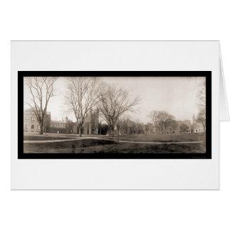 Foto 1902 de Birdseye del campus de Yale Tarjeta De Felicitación