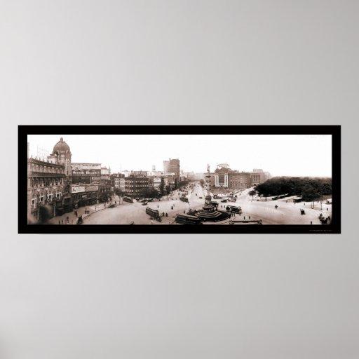 Foto 1902 del círculo NY de Columbus Impresiones