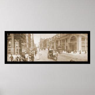 Foto 1902 del desfile de la Quinta Avenida NYC Póster