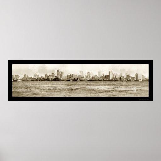 Foto 1902 del horizonte de Nueva York Impresiones