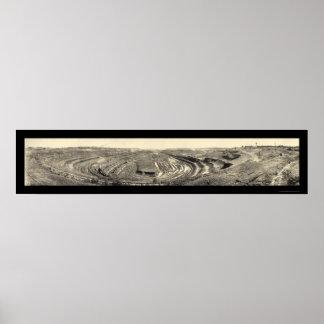 Foto 1902 del manganeso de Hibbing de la mina del Posters