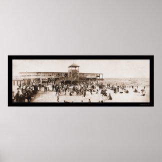 Foto 1902 del parque de Asbury de la diversión de  Posters