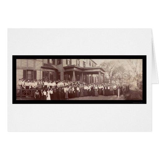 Foto 1903 de Auburndale mA del seminario Tarjeta De Felicitación