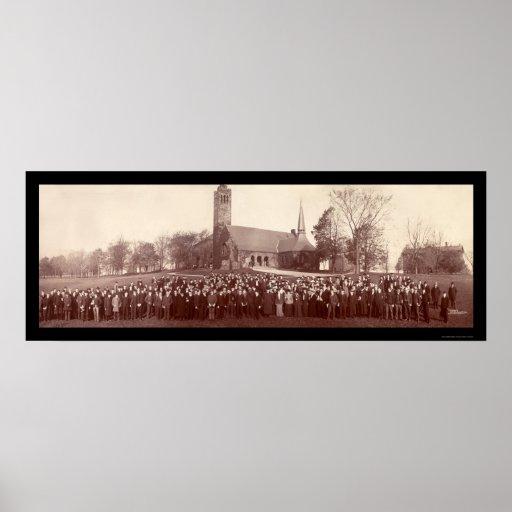 Foto 1903 de los estudiantes universitarios de los impresiones