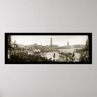 Foto 1903 de Providence de la artillería Póster