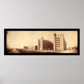 Foto 1903 del Riverbank de Cambridge mA Póster