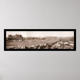 Foto 1904 de Chicago de la carrera de caballos Póster
