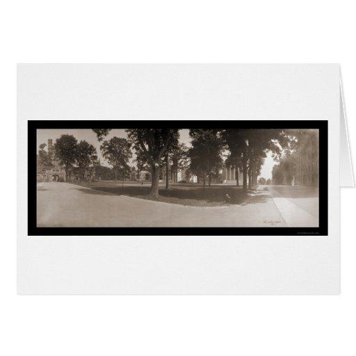 Foto 1904 del cuadrilátero de Princeton Tarjetón