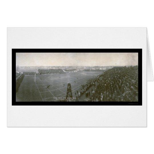 Foto 1904 del fútbol de Michigan Chicago Tarjeta De Felicitación