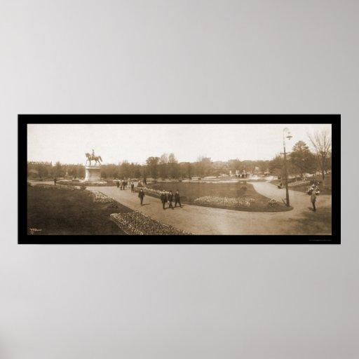 Foto 1904 del jardín de Boston mA Poster