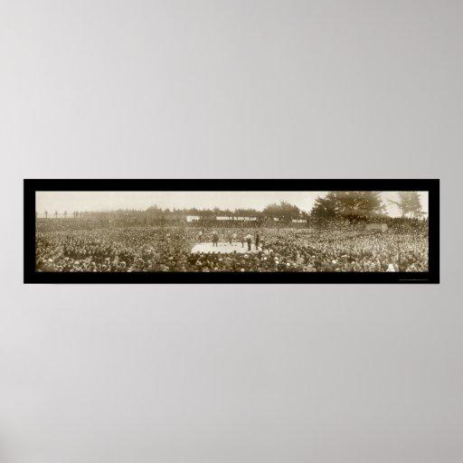 Foto 1905 del boxeo de Nelson Britt Póster