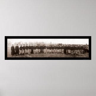 Foto 1905 del equipo de fútbol de Carlisle Poster