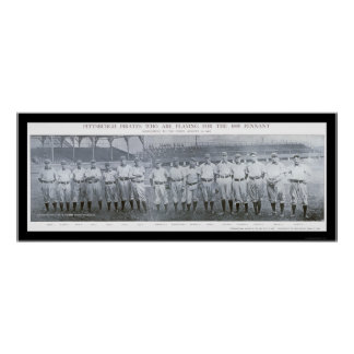 Foto 1905 del equipo de los Pittsburgh Pirates Póster