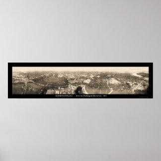 Foto 1905 del monumento del Washington DC Póster