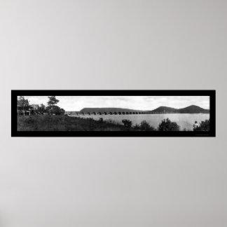 Foto 1905 del PA del puente de Rockville RR Impresiones