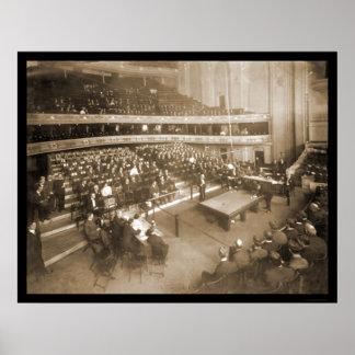 Foto 1906 de Chicago IL de los billares Póster