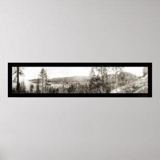 Foto 1906 de Glenbrook el lago Tahoe Póster