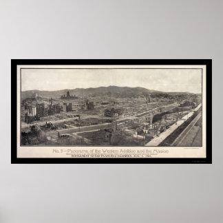 Foto 1906 de San Francisco del distrito de la misi Impresiones