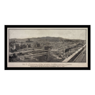 Foto 1906 de San Francisco del distrito de la misi Póster