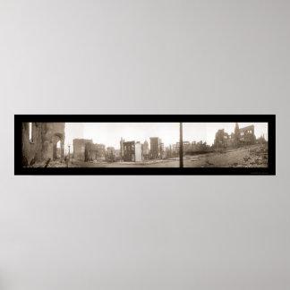 Foto 1906 de San Francisco del terremoto Póster