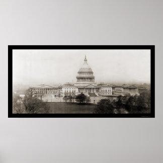 Foto 1906 del capitolio del Washington DC Póster