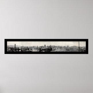 Foto 1906 del daño del terremoto de SF Póster