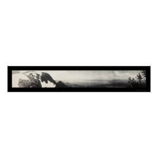 Foto 1906 del panorama del lago Tahoe CA Póster