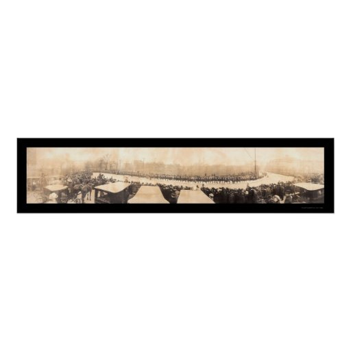 Foto 1907 de Carnegie del día de los fundadores Póster