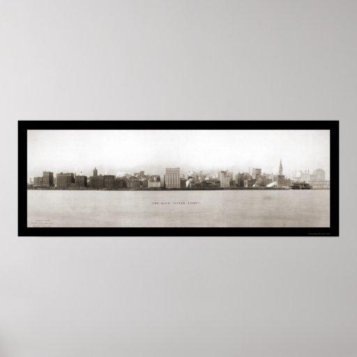 Foto 1907 de la costa de Chicago Impresiones