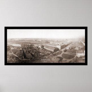Foto 1907 de la máquina segador de los WI de Milwa Impresiones
